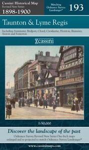 Taunton & Lyme Regis Cassini Publishing Ltd.1898/1900(Sheet map,folded,2007)NEW