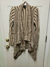 Women's United States Sweaters Long Sleeve Brown And Tan Cardigan Size XL