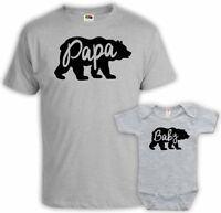 Family Shirts Family Outfits Papa Baby Bear Bodysuit Father And Baby shirts set