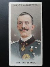 No.31 H.M. KING VICTOR OF ITALY Allied Army Leaders by Wills Ltd 1917