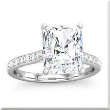 1.60 Carat GIA Certified Radiant Cut Diamond Engagement Ring 18k White Gold