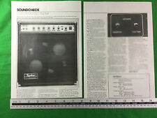 Custom Sound Trucker Combo Amp Haut-parleurs Article de magazine/revue Circa 1980