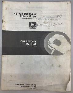 JOHN DEERE 46 MOWER DECK OPERATORS MANUAL OM-M89612 314 316 317 318 330