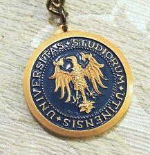 Università Udine portachiavi con medaglia incisore Malison c1978 Regalo Laurea
