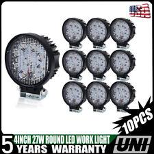 """10X 4"""" Round Pods Flood LED Driving Fog Light Off Road Work Light ATV Ford"""
