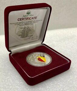 GEORGIA 5 Lari 2017 Georgian Vine Wine Qvevri Silver Proof TOP Collector Coin!