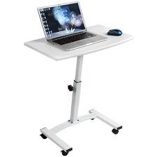 Tatkraft™Cheer Mobile Laptop Stand Desk Adjustable Height 52-84cm 4 Wheels White