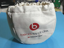 White Case Pouch  for Monster Beats Wired/Wireless Studio Solo Detox Pro Mixr