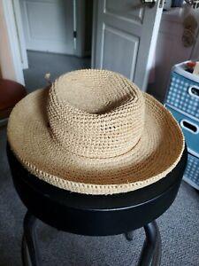 SCALA Collezione Tan Straw Raffia Hat