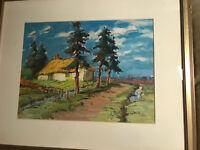 """Gerard Van der Heyden (1885 -1981) """"Landscape Scene"""" Oil Painting - Framed"""