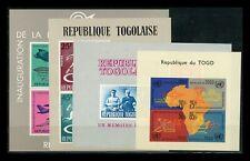 Oltremare Togo Foglietti Lotto di quattro foglietti, tutti non dentellati Nuovo