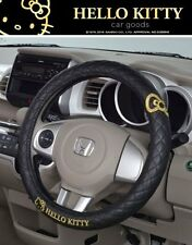 New Listing Hello Kitty kt488 Car Steering Wheel Cover Black