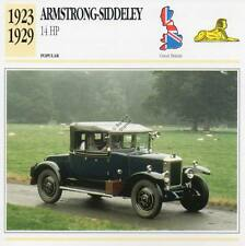 1923-1929 ARMSTRONG SIDDELEY 14-HP Classic Car Photograph/Information Maxi Card