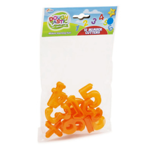 12 NUMBER MODELLING DOUGH CUTTERS GRAFIX GREAT FOR TEACHING NUMBERS