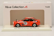 TOYOTA STARLET #37 FUJI VICTORY 1973 REVE COLLECTION R SPARK 1/43 NEUF EN BOITE