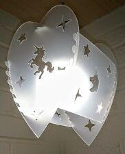 The BEDROOM HEART STARS unicorn lampshade light shade GIRLS BOYS baby lampshades