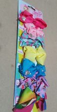 JoJo Siwa 8cm Bow Set 7 Days A Week Multicolour Hair Bows Clip Gift Kid Girls