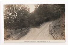 NY, Franklin - The Highway (is a dirt road) RPPC postcard - C08619