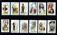 TIMBRES DE FRANCE ANNEE 2009 AUTOADHESIF SERIE MUSIQUE N°390 / 401 OBLITERES