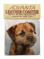 Border Terrier Single Leather Photo Coaster Animal Breed Gift, AD-BT2SC