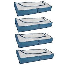 4 x Unterbett Kommode Unterbettkomode Unterbett Aufbewahrung Betten Kissen BLAU