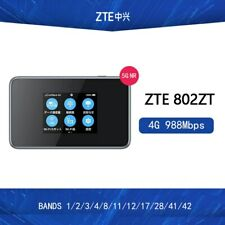 Unlocked ZTE 802ZT 4G 988Mbps LTE hotspot 4g bands 1/2/3/4/8/11/12/17/28/41/42