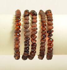 Lot 5 wholesale Natural Baltic amber baroque cherry bracelet  25.7g c-2209