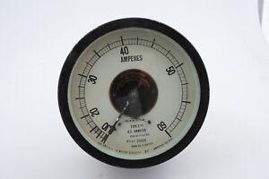 Westinghouse Type S/M Vintage Industrial Meter Gauge (J5R-3) AC Ammeter 156582