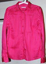 Ladies Marimekko MIKA PIIRAINEN Striped Long Sleeve Shirt Pink Color Size L 42