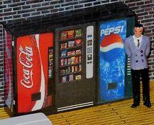 3 Modern O Scale Vending Machines