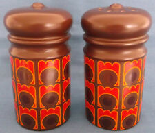 VINTAGE RETRO LARGE SALT PEPPER CRUET POTS c1960-70s KITCHENALIA TABLE