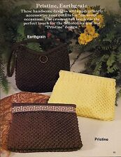 Pristine & Earthgrain Handbag Patterns - Plaid's Purses 'a la Macrame - Vintage