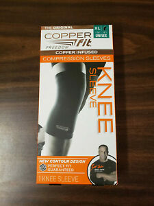 New Copper Fit Freedom Size XLarge Copper Infused Compression Knee Sleeve 16-18""