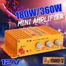 360W Mini Hi-Fi Stereo Audio Speaker Amplifier Super Bass AUX MP3 Car Motorcycle