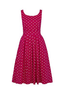 Emily and Fin Raspberry with White Polka Isobel Dress