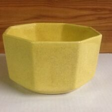 Vintage Yellow Ungemach Hexagon Pottery Planter USA