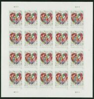 Quilled Paper Heart Wedding Forever Sheet of 20 Stamps Scott 5036