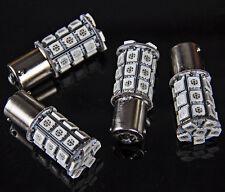 4x 1156 Ba15s Amber Turn Signal LED 27 SMD RV Trailer Camper Interior Light Bulb