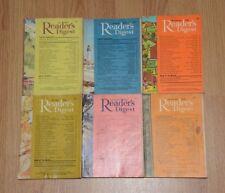 Vintage UK Readers Digest Magazines x6. July to December 1965