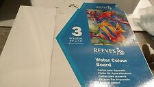 "REEVES WATER COLOR BOARD 11"" X 14'  WATERCOLOR PACK OF 3"