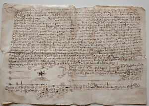 Manuscript Spain sale of land to a Jew 1430s middle ages 15th century
