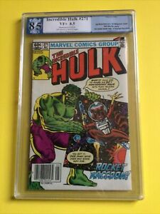Incredible Hulk #271 PGX 8.5 1982 2nd app. Rocket Raccoon🔥🦝MARVEL - HOT