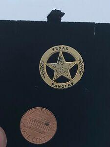 Western Silver Star Texas Rangers Hat Pin/Tie Tack/Lapel Pin