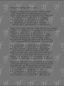 Rudyard Kipling IF Poem Grey Canvas  Print Wall Art Picture Size 12x16 Inch 18mm