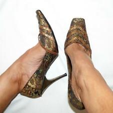 NEW WITTNER 9.5 gold brocade PUMPS bRAZIL stiletto heel shoes 3+ITEM= FREE POST