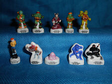 TMNT Teenage Mutant Ninja Turtles Set 10 Mini Figurines French Porcelain FEVES