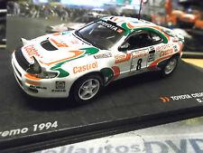 TOYOTA Celica Turbo 4WD Rallye WM San Remo Auriol 1994 Cas IXO Altaya S-Pr 1:43