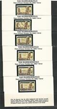 50-Dag Hammarskjold Color Error Used Stamps In Show Guard Mounts On Printed Card