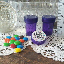 "8 Purple Tiny Drug Travel Pill 1 1/2""+ hi Purse Size Container 1/2oz DecoJars US"