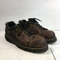 Dr. Marten Mens US 13 M Brown Leather Industrial Lace Up Steel Toe Work Shoes